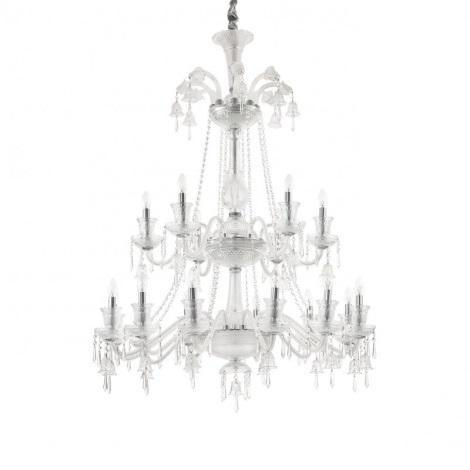 Ideal Lux - Křišťálový lustr na lanku REDENTORE 18xE14/40W/230V