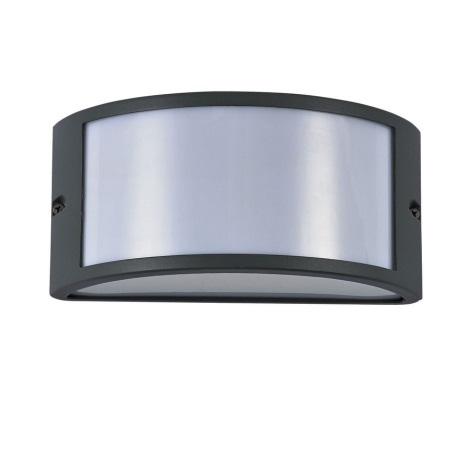 Ideal Lux - Venkovní nástěnné svítidlo 1xE27/60W/230V antracit IP44