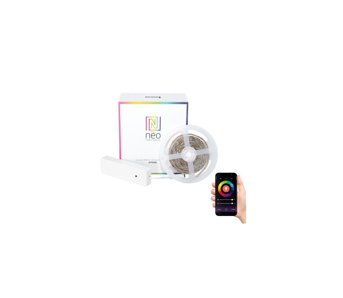 LED pásek 24V 60LED/m IP65 11.5W/m RGB + CCT IMMAX NEO 07008L ZIGBEE DIM 2m + kontroler