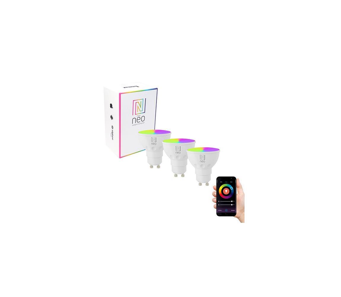 Immax Neo Immax NEO 07724C - SADA 3x LED RGB Stmívatelná žárovka GU10/5,5W/230V Wi-Fi Tuya IM0816