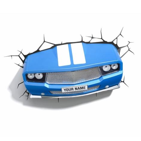Kanlux 15176 - Dětské nástěnné 3D svítidlo CLASSIC CAR LED/3xAA