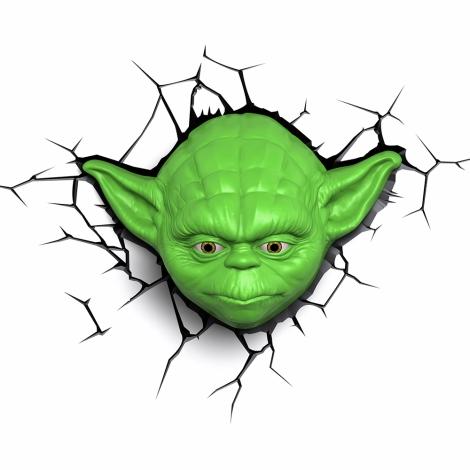 Kanlux 15220 - Dětské nástěnné 3D svítidlo SW YODA LED/3xAA