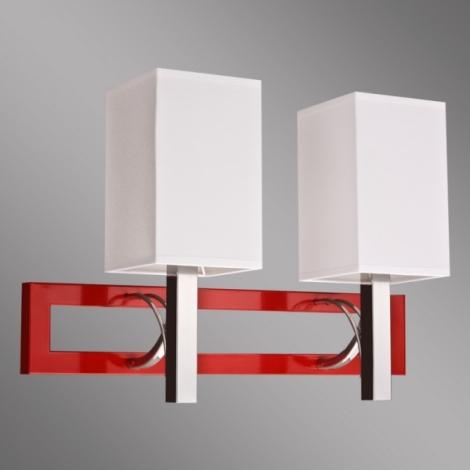 Kemar RF/K/2/R - Nástěnné svítidlo RIFFTA 2xE14/60W/230V