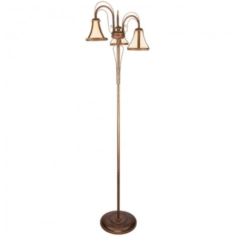 Kemar T/LS/3 - Stojací lampa TANAJA 3xE27/60W/230V červená