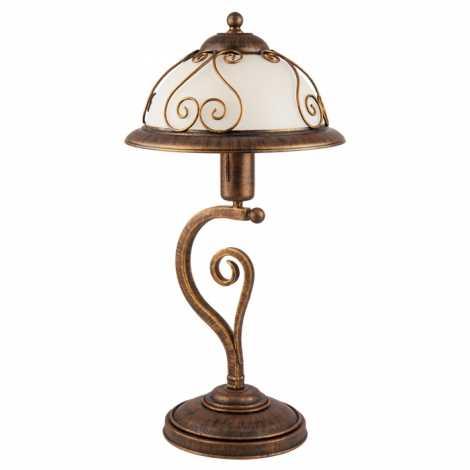 Kemar VE/B - Stolní lampa VERDA 1xE27/60W bronz