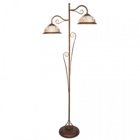 Kemar VE/LS - Stojací lampa VERDA 2xE27/60W bronz
