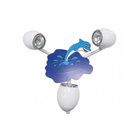 Klik 0115.03 - Nástěnné svítidlo DELFIN 3XGU10/50W/230V