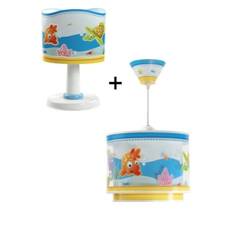 Klik 6033 - Stolní lampa + Lustr AQUARIUM E14/40W/230V