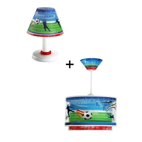 Klik 6046 - Stolní lampa + Lustr  FOOTBALL E27,E14/60,40W/230V