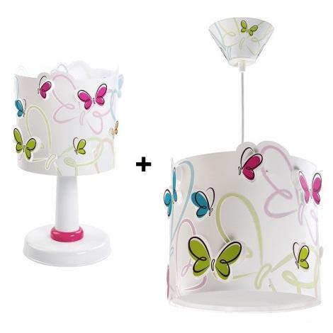 Klik 6214 - SADA stolní lampa + lustr BUTTERFLY