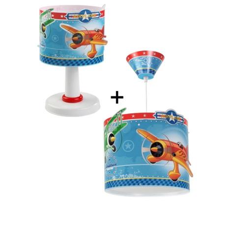 Klik 6259 - Stolní lampa + Lustr AIRPLANE E14,E27/40,60W/230V