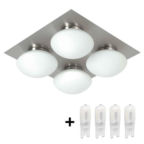 Koupelnové stropní svítidlo DUNAJ 4 4xG9/40W/230V IP44