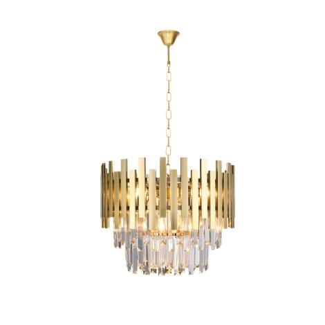 Křišťálový lustr na řetězu ASPEN GOLD 6xE14/40W/230V