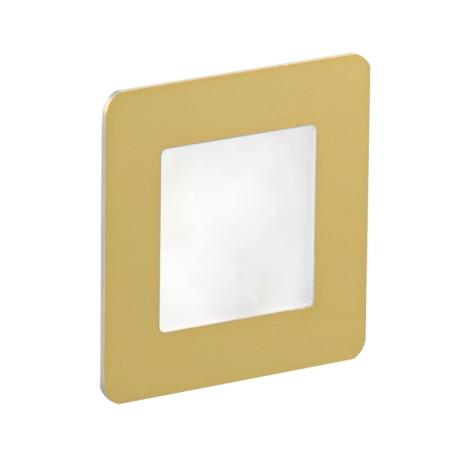 LDST DI-01-SZ-BC9 - LED schodišťové svítidlo DIANA 9xLED/1,2W/230V zlatá 3500K