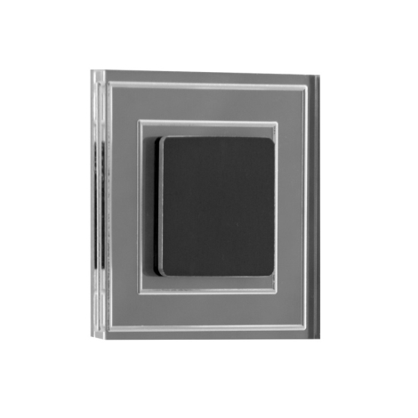 LDST KE-01-SC-BC8 - LED schodišťové svítidlo KELLY 8xLED/1,2W/230V matná černá 3500K