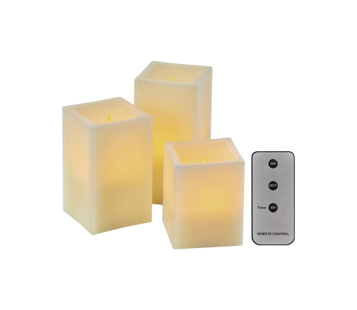 EMOS LED Dekorační svíčky 3xLED/0,06W/3xAAA + dálkové ovládání