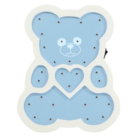 LED Dětská lampa LED/2xAA modrý medvěd