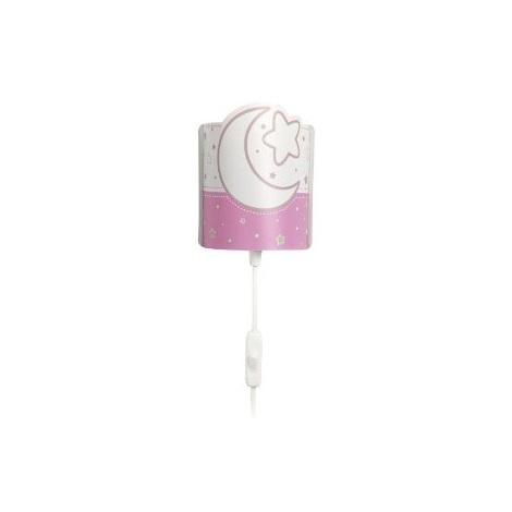 LED Dětské nástěnné svítidlo PINK MOON 1xE14/0,5W LED