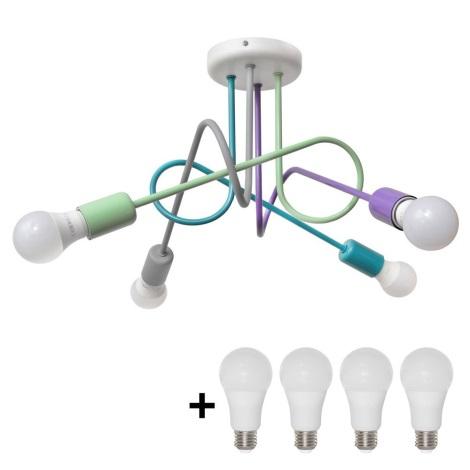 LED Dětský lustr OXFORD 4xE27/9W/230V