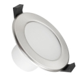 LED Koupelnové podhledové svítidlo LED/7W/230V 3000K stříbrná IP44