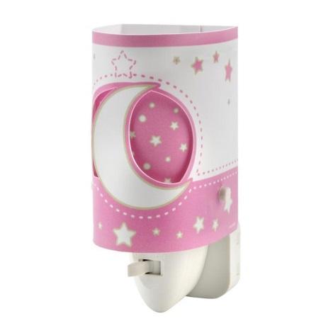 LED lampička do zásuvky PINK MOON 1xE14/0,5W LED