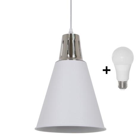 LED Lustr 1xE27/10W/230V bílá 22cm