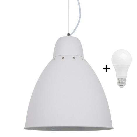 LED Lustr 1xE27/10W/230V bílá 29,5cm