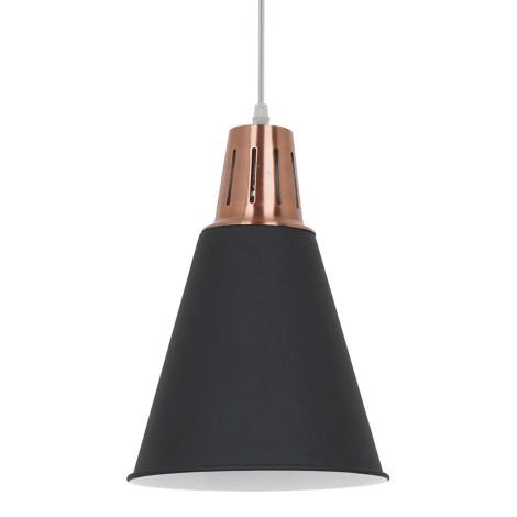 LED Lustr 1xE27/10W/230V černá 22cm