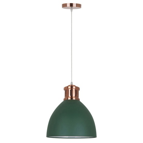 LED Lustr 1xE27/10W/230V zelená 30cm