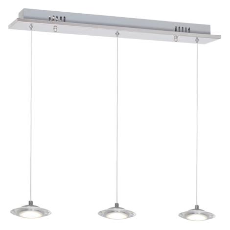 LED Lustr na lanku ELLIPSE 3xLED/5W/230V