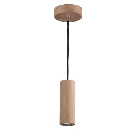 LED Lustr na lanku PIPE 1xGU10/5W/230V matný dub