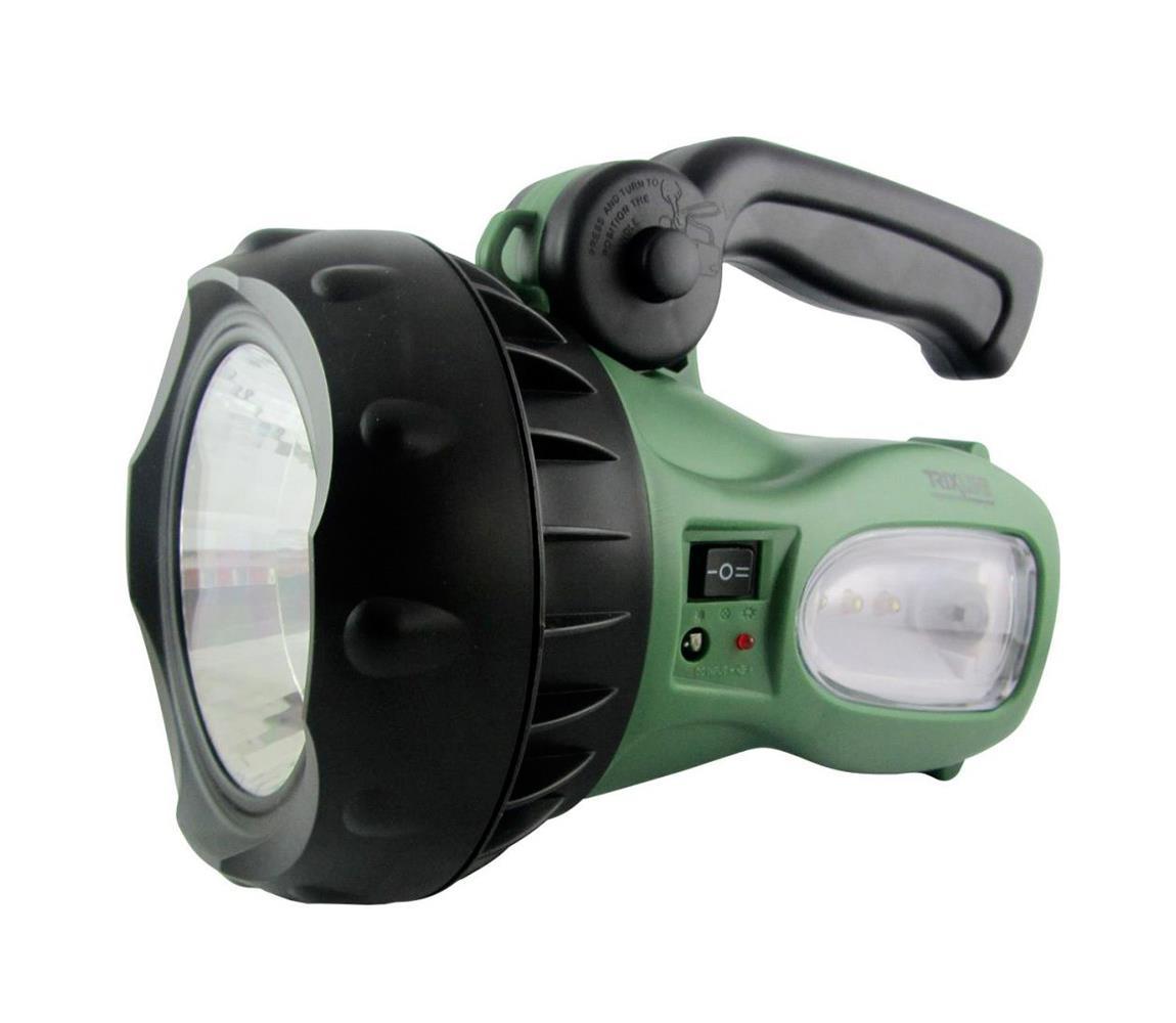 Baterie Centrum LED Nabíjecí svítilna LED/1W zelená BC0199