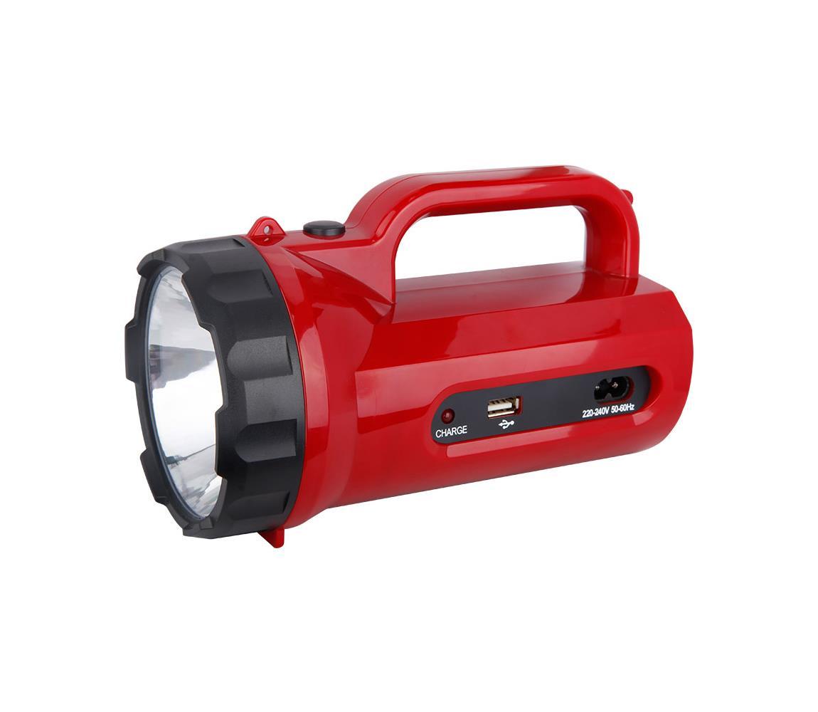 Solight LED nabíjecí svítilna LED/5W/4V/230V červená SL0068