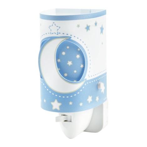 LED Nástěnné dětské svítidlo BLUE MOON 1xE14/0,5W LED
