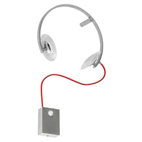 LED Nástěnné dětské svítidlo TUNO LED/10W/230V chrom