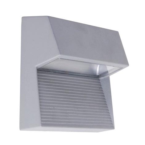LED Nástěnné svítidlo RADIUS 3xLED/1W stříbrná