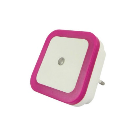 LED Noční světlo se senzorem LED/0,5W/230V růžová