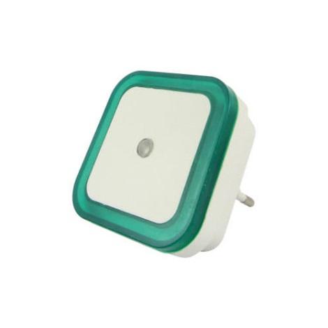 LED Noční světlo se senzorem LED/0,5W/230V zelená