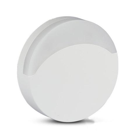 LED Noční světlo se senzorem SAMSUNG CHIP LED/0,5W/230V 65mm 4000K kulatý