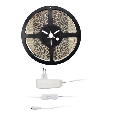 LED Pásek 5 m 4,8W/m, adaptér