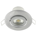 LED podhledové svítidlo náklopné LED/7W stříbrná