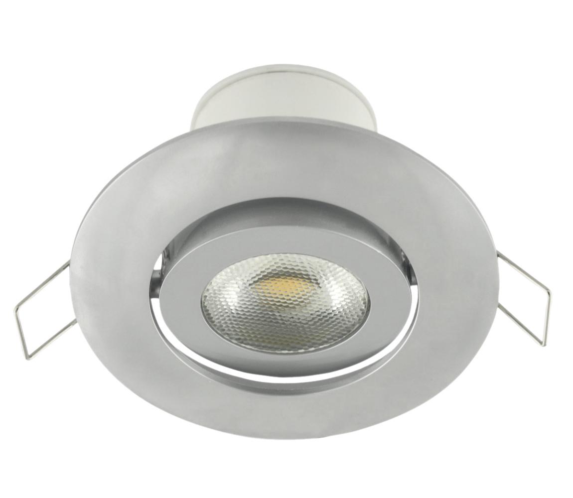 Nedes LED podhledové svítidlo náklopné LED/7W stříbrná