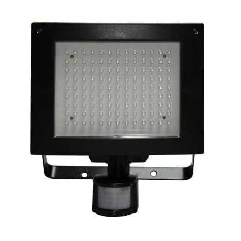 LED Reflektor s PIR čidlem T274 117xLED/9W černý