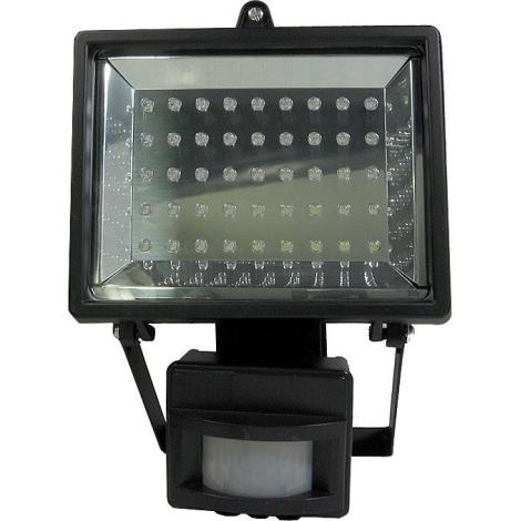 LED Reflektor s PIR čidlem T303 45xLED/3,5W/230V černý