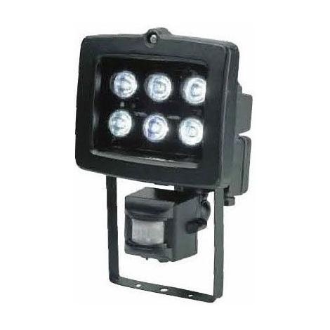 LED Reflektor s PIR čidlem T304 6xLED/6W černý