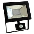 LED Reflektor se senzorem NOCTIS 2 SMD LED/10W/230V 630lm černá IP44