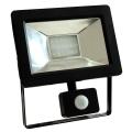 LED Reflektor se senzorem NOCTIS 2 SMD LED/20W/230V IP44 1350lm černá