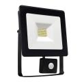 LED Reflektor se senzorem NOCTIS LUX SMD LED/10W/230V 900lm černá IP44
