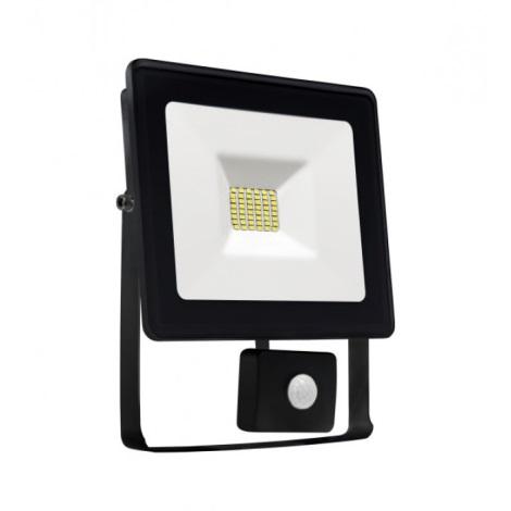 LED Reflektor se senzorem NOCTIS LUX SMD LED/20W/230V 1700lm černá IP44