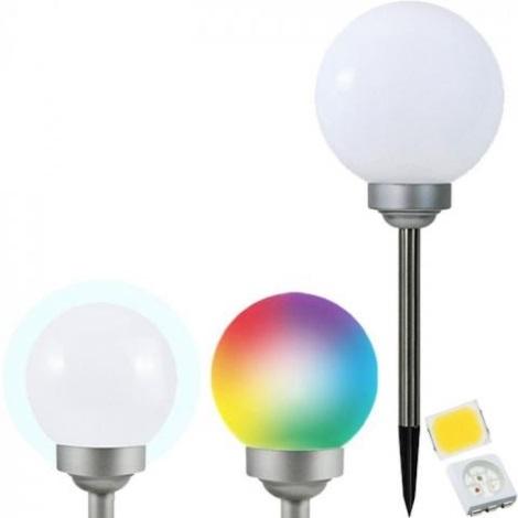 LED RGB Solární lampa LED-RGB/0,2W/AA 1,2V/600mAh IP44